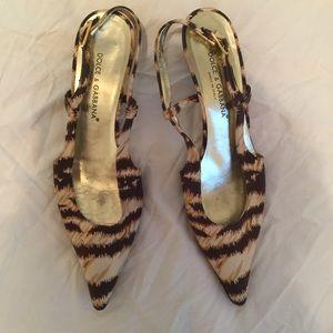 Funky dolce and gabanna slingback heels